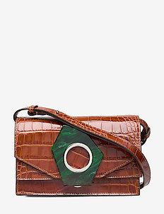 Leather Crossbody Bag - shoulder bags - cognac