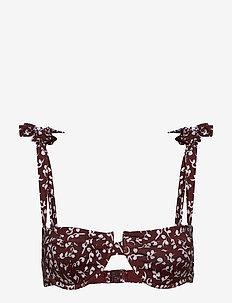 Recycled Fabric Swimwear - bikinitops - decadent chocolate