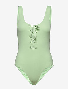 Recycled Textured Swimwear - badedragter - patina green