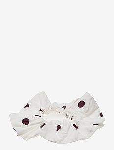 Printed Cotton Poplin - hiusasusteet - egret