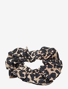 Printed Cotton Poplin - håraccessoarer - leopard