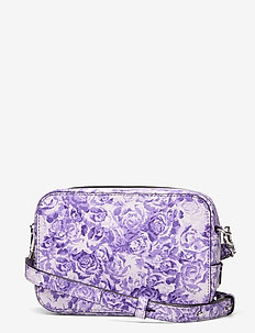 Printed Leather - torby na ramię - violet tulip