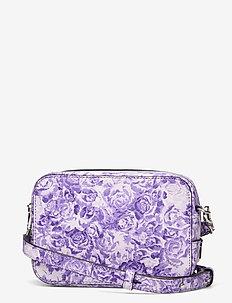 Printed Leather - shoulder bags - violet tulip
