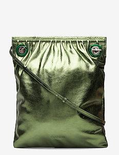 Ruched Eyelet - shoulder bags - island green