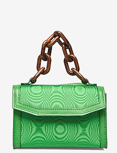 Leather - top handle - island green
