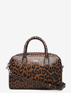 Top Handle Bag Leather - handbags - toffee