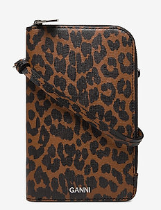 Phone Bag Leather - beurzen - toffee