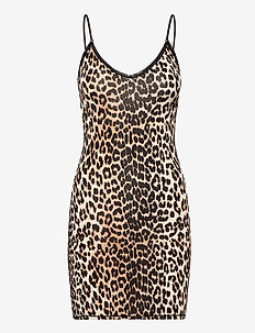 Slip Dress - bodies & slips - leopard