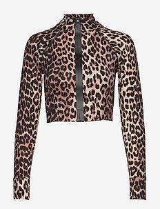 Recycled Crisp Swimwear - langärmlige tops - leopard