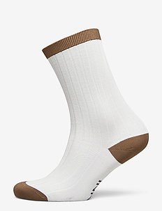 Cotton Blend Socks - strømper - egret