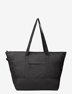 Packable Tote - fashion shoppers - black
