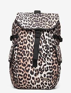 Recycled Tech Fabric Bags - ryggsäckar - leopard