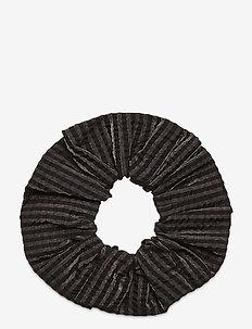 Seersucker Check - hår accessories - black
