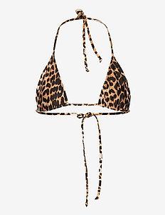 Recycled Printed - bikinis med trekantform - leopard