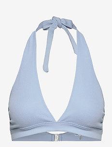 Recycled Textured - bikiniyläosat - chambray blue