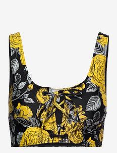 Recycled Printed - bikini tops - black