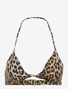 Recycled Printed - trójkątny stanik bikini - leopard
