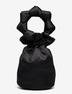 Satin Knots - bucketväskor - black