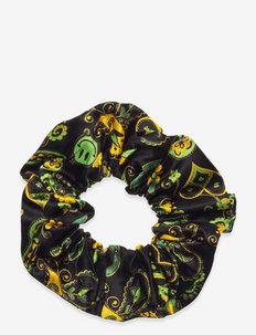 Viscose Satin - scrunchies - black