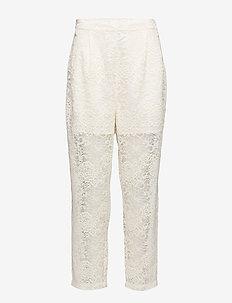 Parker Lace - bukser med lige ben - vanilla ice