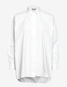 Plain Cotton Poplin - BRIGHT WHITE