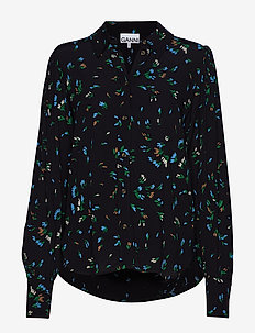 Printed Crepe Shirt - VERDANT GREEN