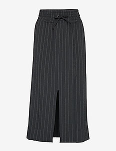 Heavy Crepe Skirt - maxi röcke - black