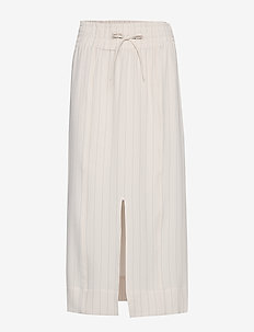 Heavy Crepe Skirt - lange rokken - tapioca