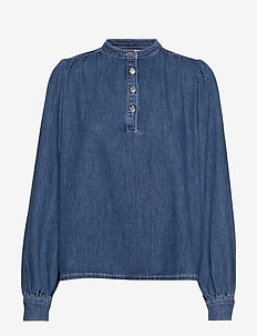 Suit Denim Blouse - DENIM