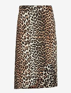 Silk Mix Skirt - LEOPARD