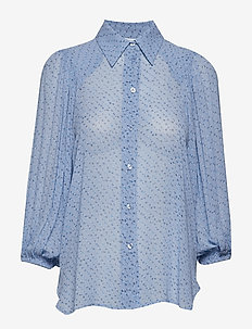 Printed Georgette Shirt - FOREVER BLUE
