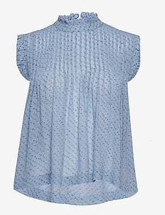 Printed Georgette Top - FOREVER BLUE