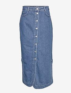Suit Denim Maxi Skirt - DENIM