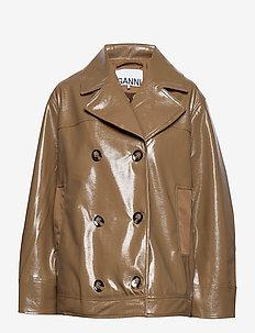 Patent Oversized Jacket - skinnjackor - ermine