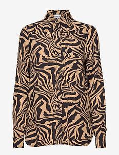 Printed Crepe - bluzki z długimi rękawami - tannin