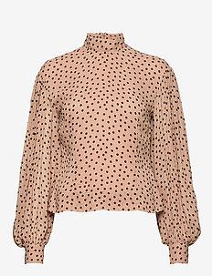 Printed Georgette - blouses med lange mouwen - tannin