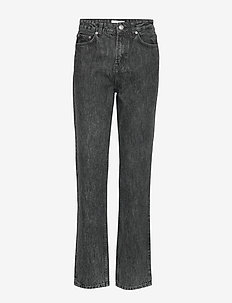 Washed Denim High-waisted Jeans - suorat - phantom