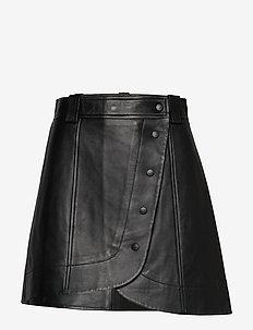 Lamb Leather - korte rokken - black