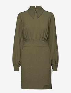 Heavy Crepe Mini Dress - skjortekjoler - kalamata