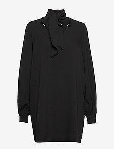 Heavy Crepe Dress - korta klänningar - black