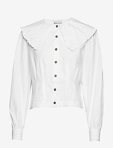 Cotton Poplin Cropped Shirt - BRIGHT WHITE