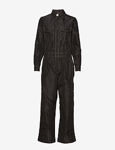 Recycled Polyester Jumpsuit - jumpsuits - black