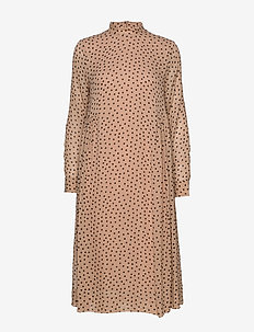 Printed Georgette - midi dresses - tannin