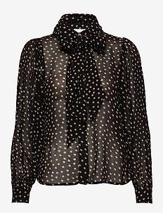 Printed Georgette - bluzki z długimi rękawami - black
