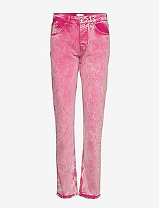 Washed Denim - straight jeans - fuchsia red