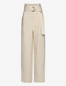 Chino - wide leg trousers - egret