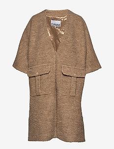 Boucle Wool - wool coats - tannin
