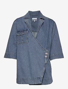 Washed Denim - jeansblouses - washed indigo