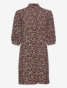 Printed Crepe - korte kjoler - decadent chocolate