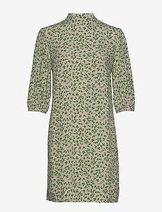 Printed Crepe - korte kjoler - tapioca